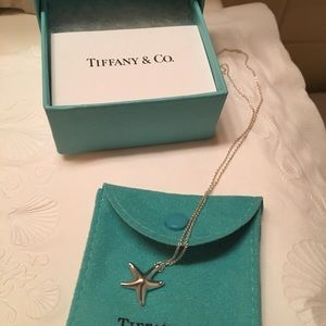 Tiffany & Co sterling silver starfish necklace